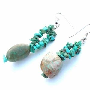 Turquoise Earrings Pierced Dangle Earrings